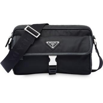 Prada ロゴプレート メッセンジャーバッグ - ブラック
