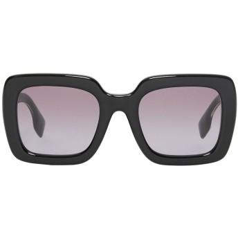 Burberry スクエアフレーム サングラス - ブラック