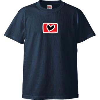 ハート Tシャツ(カラー : インディゴ, サイズ : L)