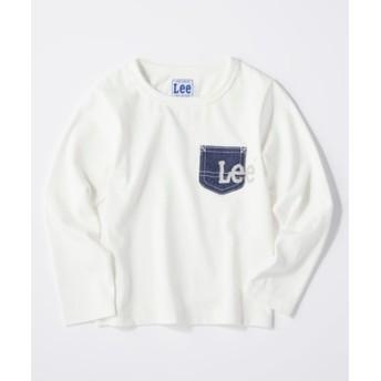 Lee ロゴデニムポケットロンT キッズ ホワイト