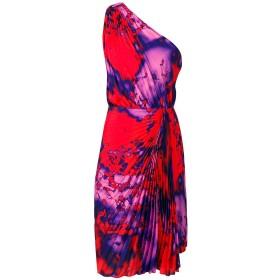 MSGM プリーツ ワンショルダー ドレス - レッド