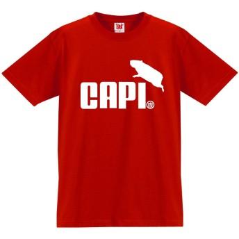 Tシャツ カピバラ ジャンプ 【赤T】【レディースL】