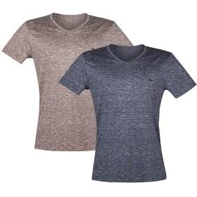 SEPTWOLVES Tシャツ メンズ 半袖 クルーネック tシャツ インナー Vネック 2枚組 (L)