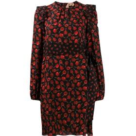 Nº21 フローラル シフトドレス - ブラック