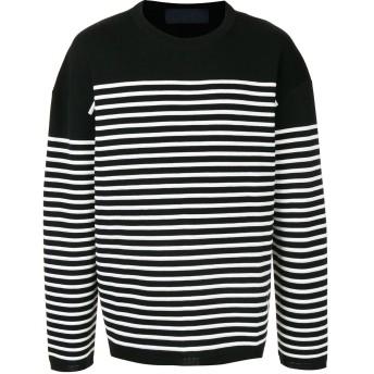 Juun.J ストライプ セーター - ブラック