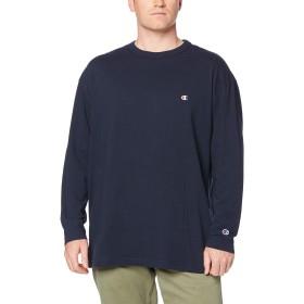[チャンピオン] ワンポイントロゴ ロングスリーブTシャツ 大きいサイズ ベーシック C3-P401L メンズ ネイビー 日本 4L (日本サイズ4L相当)
