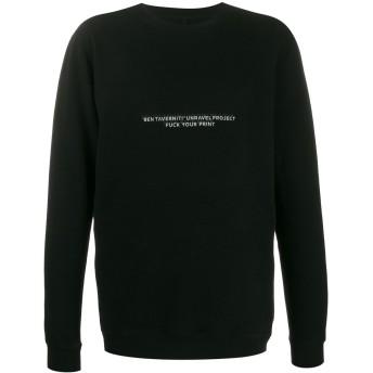 Unravel Project プリント スウェットシャツ - ブラック