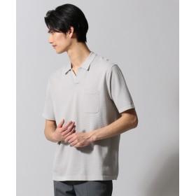 【オンワード】 gotairiku(ゴタイリク) ジオメトリックパターンスキッパ ポロシャツ アイボリー LL メンズ 【送料無料】