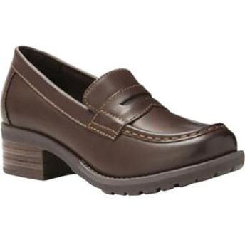イーストランド Eastland レディース ローファー・オックスフォード シューズ・靴 Holly Moc Toe Penny Loafer Brown Synthetic
