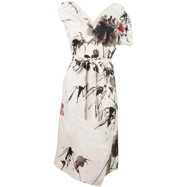 Vivienne Westwood フローラル シャツドレス - ニュートラル