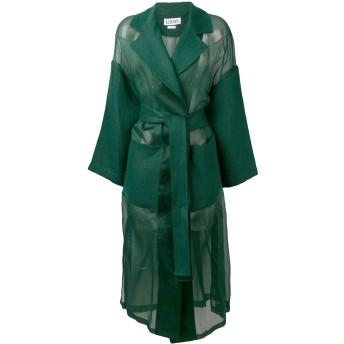 Loewe オーバーサイズ ベルテッドコート - グリーン