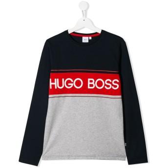 Boss Kids ロゴ カラーブロック トップ - ブルー
