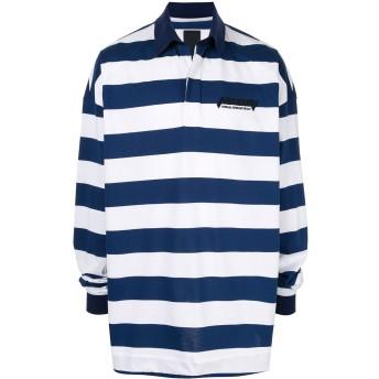 Juun.J ストライプ ポロシャツ - ホワイト