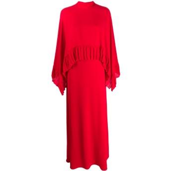 Valentino プリーツ ドレス - レッド