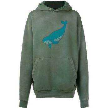 Balenciaga オーバーサイズ クジラ パーカー - グリーン