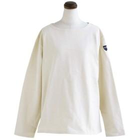 (セイル) SAIL 長袖 カットソー バスクシャツ コットン 無地 ボートネック 日本製 ブラック キナリ レディースL キナリ