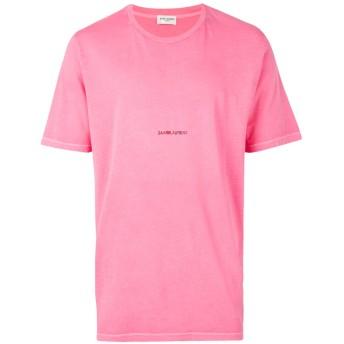 Saint Laurent ロゴプリント Tシャツ - ピンク