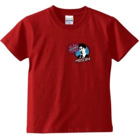 KATSUMATA MUSEUM(ブルーワンポイント) キッズTシャツ(カラー : レッド, サイズ : 150)
