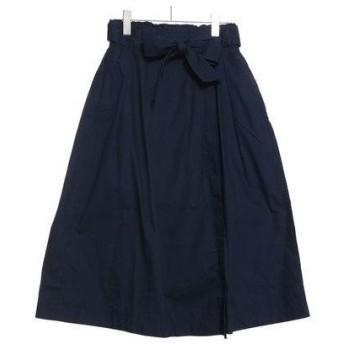 サマンサモスモス ブルー アウトレット Samansa Mos2 blue outlet ダンプウエストベルトスカート (ネイビー)
