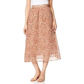 [ウィゴー] WEGO シアー シフォン パターン ロング スカート 花柄 ドット L ガラ3 レディース