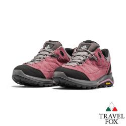 TRAVEL FOX(女) 山的療癒  VIBRAM大底防水抗寒專業進口戶外登山鞋 - 富士棕粉