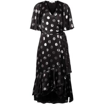 Diane von Furstenberg ドット フレアドレス - ブラック