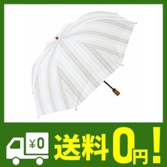 日傘 ショート日傘 折りたたみショート 晴雨兼用傘 完全遮光 遮熱 UVカット 紫外線遮蔽率100% ボーダー柄 大判 トップレス 母の日