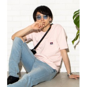 (WEGO/ウィゴー)WEGO/BEN DAVIS別注ポケットTシャツ/ユニセックス ライトピンク