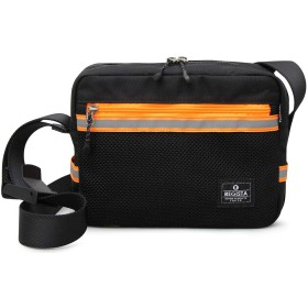 オレンジ F ミニショルダー レディース ショルダーバッグ メンズ バッグ カジュアルバッグ 斜め掛け リフレクター B4L コンパクト ネオンカラー 軽量 メッシュポケット シンプル ミニ スポーティ 鞄 大容量 アウトドア 旅行 小物収納 父の日