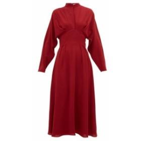 エミリア ウィックステッド Emilia Wickstead レディース ワンピース ワンピース・ドレス Autumn pleated high-neck crepe midi dress Cl