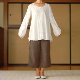 [ tunic CHLOE ] White Cotton (S)