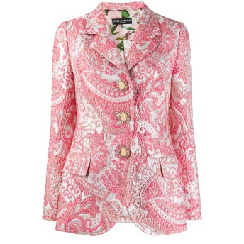 Dolce & Gabbana ジャカード ジャケット - ピンク