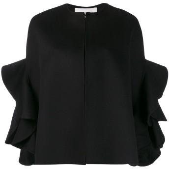 Valentino ラッフルスリーブ ジャケット - ブラック
