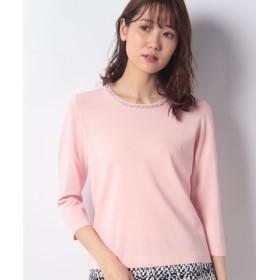 (MADAM JOCONDE/マダム ジョコンダ)ANA 衿ぐりビーズ刺繍プルオーバー/レディース ピンク