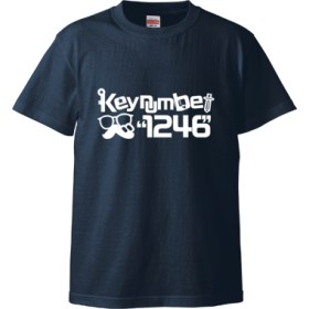 1246Tシャツ文字白(Tシャツ)(カラー : インディゴ, サイズ : M)