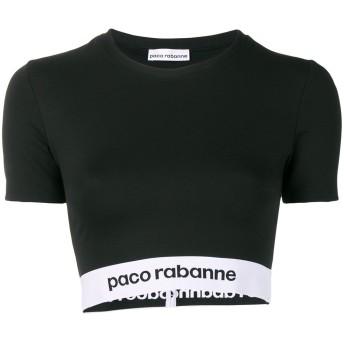 Paco Rabanne ロゴ クロップドトップ - ブラック