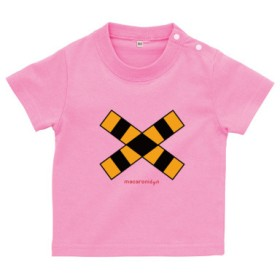 踏切 ベビーTシャツ(カラー : ピンク, サイズ : 80)