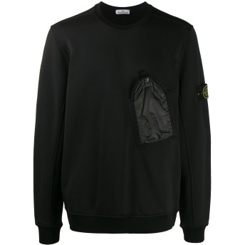 Stone Island チェストポケット スウェットシャツ - ブラック