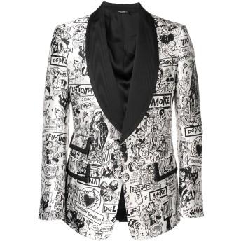 Dolce & Gabbana Casino プリント ジャケット - ホワイト