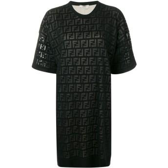 Fendi FFロゴ Tシャツドレス - ブラック