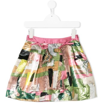 Emilio Pucci Junior multi-print skirt - ピンク