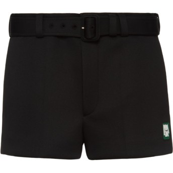 Prada テクニカル ジャージー ショートパンツ - ブラック