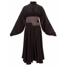 クリストファー ケイン Christopher Kane レディース ワンピース ワンピース・ドレス Crystal-embellished charmeuse dress Black