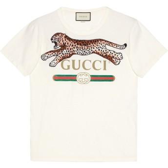 Gucci グッチ プリント タイガー Tシャツ - ホワイト