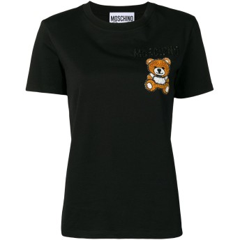 Moschino エンブロイダリー Tシャツ - ブラック