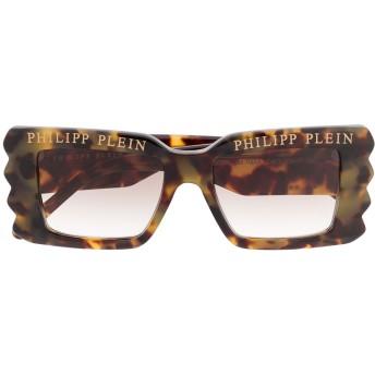 Philipp Plein ロゴ サングラス - ニュートラル