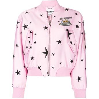 Moschino プリント ボンバージャケット - ピンク