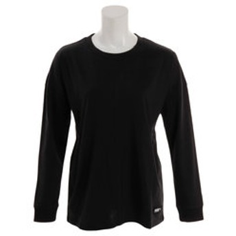 【Super Sports XEBIO & mall店:トップス】【ゼビオグループ限定】 FUSION オーバーサイズ長袖Tシャツ 581791 01 BLK