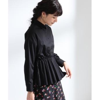 ビームス ウィメン Ray BEAMS / プリーツ キリカエ レギュラーシャツ レディース BLACK 1 【BEAMS WOMEN】