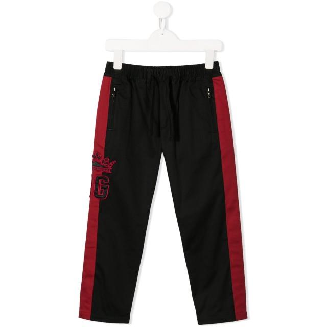 Dolce & Gabbana Kids ロゴ トラックパンツ - ブラック